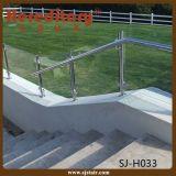 Barandilla de cristal montada cara del acero inoxidable para el balcón (SJ-H1206)