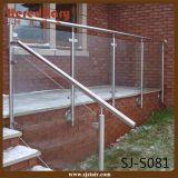 Barrière en verre en acier inoxydable pour balcon extérieur (SJ-S081)