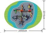 Le matériel de jeu de gosses place la cour de jeu extérieure HD-015A
