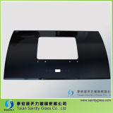 4mm 5mm 6mm Curve Glass Tempered Bent Range Hood Glass pour l'induction de la cuisine