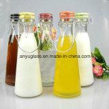 Bebida de leite Swing Abraçadeira superior Pac Garrafas de água de vidro para sumo