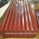 亜鉛上塗を施してあるカラー波形の鋼鉄屋根シート