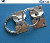 ステンレス鋼のリングが付いている楕円形の目の版
