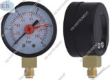 Red Adjustable Pointer를 가진 까만 Steel Case Pressure Gauge