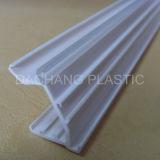 Carril de plástico para el precio eléctrico portaetiquetas