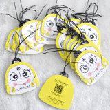 Wachs String Folding Swing Tag für Childrens Schoolbag