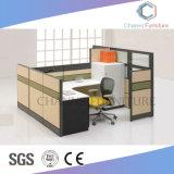 Disegno di progetto L stazione di lavoro di legno dell'ufficio della mobilia di figura