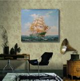 壁の装飾のための帆船の絵画