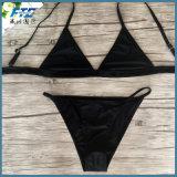 보통 까만 섹시한 형식 비키니 수영복 수영복 Beachwear