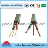Câble isolé par PVC plat de la gaine BVVB+E du ménage BVVB de fil de construction
