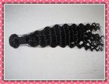 Banheira de 5A Onda profunda 100g preta natural de cabelo humano tece 12-24 polegadas Virgem Brasileiro de extensão de Cabelos em bruto