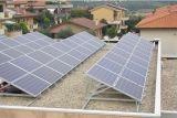 Pequeño sistema de iluminación casero solar solar del sistema casero