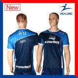 Le prix bon marché de Healong vêtx le T-shirt personnalisé pleine par sublimation pour les hommes