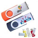 Mecanismo impulsor del flash del USB del eslabón giratorio con las varias insignias (PZS009)