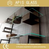 6mm Heat Strength Glass / Furniture Tempered Glass for Wine Cabinet Shelf