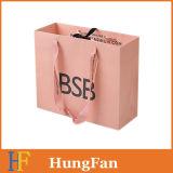 선전용 손잡이를 가진 관례에 의하여 인쇄되는 Kraft 종이 쇼핑 포장 운반대 선물 종이 봉지