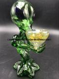 Pipe de fumage en verre de l'eau de pipe de pipe en verre étrangère de main