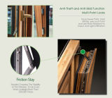 La Cina ha reso a legno di quercia lustrato doppio la finestra francese della stoffa per tendine