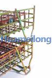 Склад складная все проволочной сетки металлической клетки с колеса