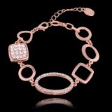 Neuestes Goldgeometrische Form-Charme-Armband-Kristallschmucksachen des Entwurfs-18k Eco-Fridendly Rose