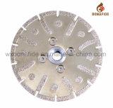 Electroplated тип лезвия диаманта поделенный на сегменты вырезыванием с фланцом