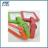 Handmade Leather Viagem Hang Bagagem Tag Promoção Presente