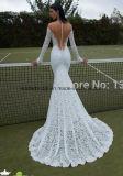 Vestiti da cerimonia nuziale lunghi puri di Berta del manicotto degli abiti nuziali del merletto Z2079