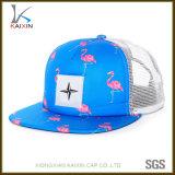 Cappello floreale su ordinazione del camionista della maglia della gomma piuma del poliestere di stampa di sublimazione