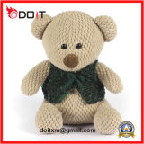 O luxuoso da veste do verde do fornecedor do urso da peluche encheu brinquedos do urso da peluche