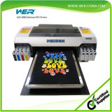2015 Neue Technologie spart Bauraum A2 Desktop-Direct to Garment Schwarzes T-Shirt-Drucker