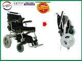 LiFePO4電池が付いている速い折りたたみの電動車椅子