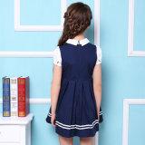Vestito blu/rosso dall'uniforme scolastico primario delle ragazze di modo