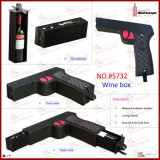 PU 가죽 차가운 전자총 모양 포도주 상자 (5732)
