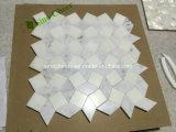 Mosaico di marmo grigio bianco dei commerci all'ingrosso con qualità superiore