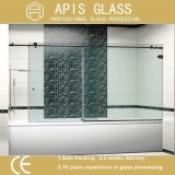 Orifícios de perfuração de 8mm Warter Jet Cutting Tempered Glass for Shower Door