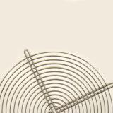 Cesta de alambre de metal cromado para la cubierta del ventilador Industrial