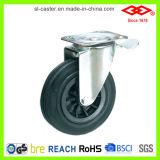 200mm Schwenker-Platte mit Bremsen-Abfall-Sortierfach-Fußrolle (P101-31C200X50S)