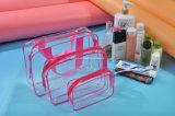 セット1組あたりの3pieceの明確なPVCギフトの装飾的なパッケージのポリ袋