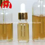 Óleo essencial de vidro de alta qualidade Goldern Frascos com tampa de alumínio