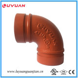 Té réducteur fileté malléable de fer FM d'homologation cotée de l'UL 139.7*48.3