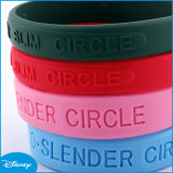 Debossed Silicone Wristband, Logo, Thin Silicone Bracelet (A3-239)를 가진 Silicon Bracelet