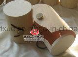 Cadre en bois de forme non finie de cylindre avec le logo