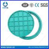 Blauer Farben-Qualitäts-Einsteigeloch-Deckel mit Rahmen