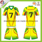 Chemise du football du Jersey du football de sublimation estampée par coutume d'OEM