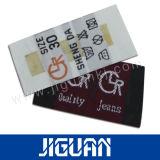 Gebildet in China-kundenspezifische Drucken-elegante Kleidungs-Marke gesponnenen Kennsätzen