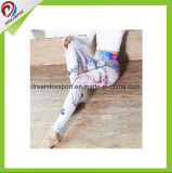 Calças feitas sob encomenda da ioga do Spandex de Laides das caneleiras do desgaste da aptidão do Sublimation