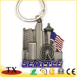 USA New York Boston City Souvenir Métal 3D de la chaîne de clé