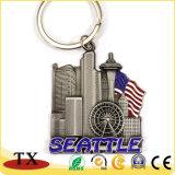 Der USA-Seattle New York Boston Metallschlüsselkette Stadt-Landschaft-Denkmal-Andenken-3D