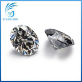 9x7mm 1,5 quilates oval corte brillante colorido creado laboratorio Moissanite gris