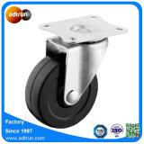 75mm industrielles schwarzes Gummifußrollen-Rad